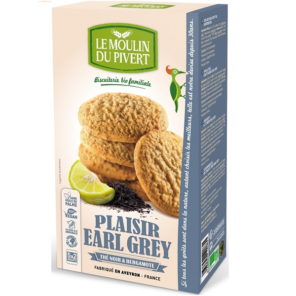 Le Moulin du Pivert - Biscuits Bio Plaisirs Earl Grey -175 gr