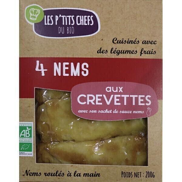 Les P'tits Chefs du Bio - 4 Nems aux crevettes 200g