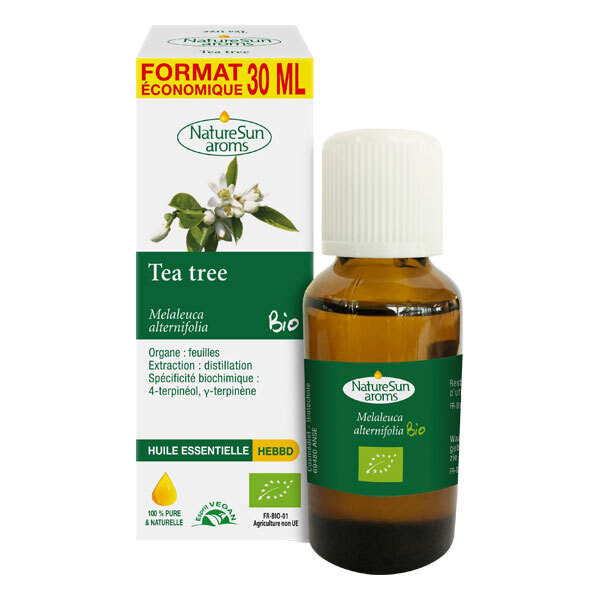 NatureSun Aroms - Lot de 3 x Huile Essentielle Tea Tree BIO 30mL