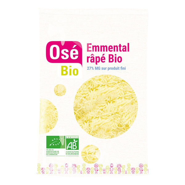 Osé Bio - Emmental râpé bio 200g