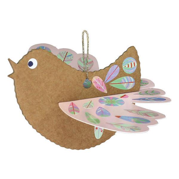 Pirouette cacahouete - Kit Oiseaux poétiques à créer en carton