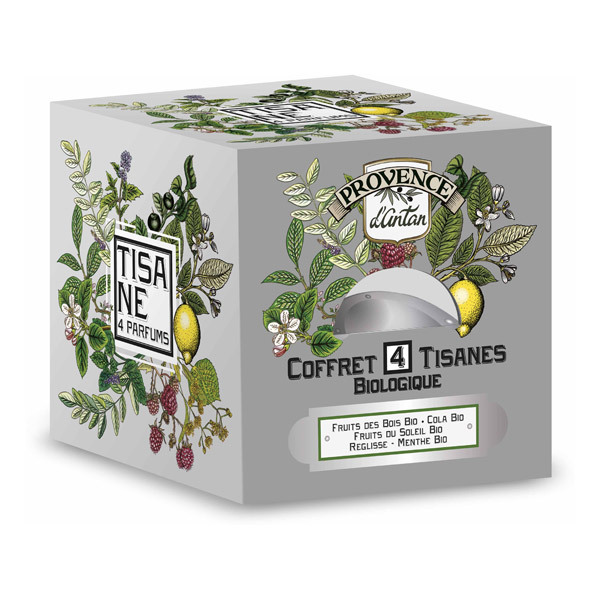 coffret m tal tisane 4 saveurs bio 48g provence d 39 antan. Black Bedroom Furniture Sets. Home Design Ideas