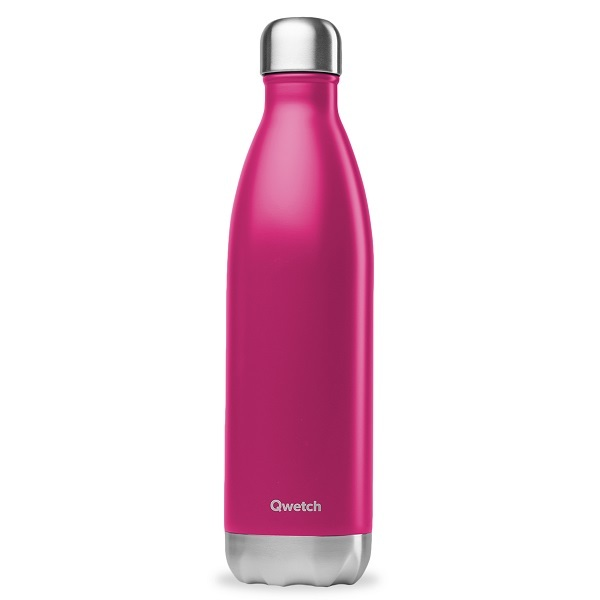 Qwetch - Bouteille isotherme inox Magenta 75cl
