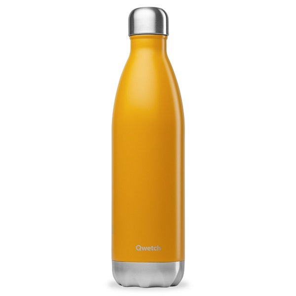 Qwetch - Bouteille isotherme inox Safran 75cl