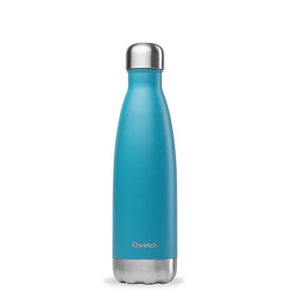 Qwetch - Bouteille isotherme inox Turquoise 50cl
