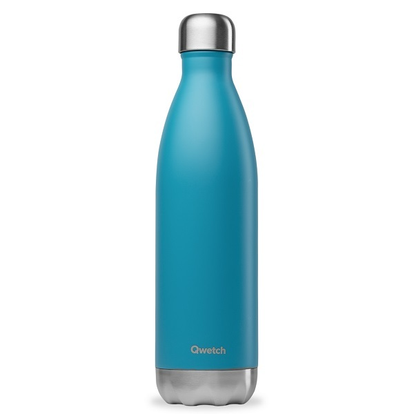 Qwetch - Bouteille isotherme inox Turquoise 75cl