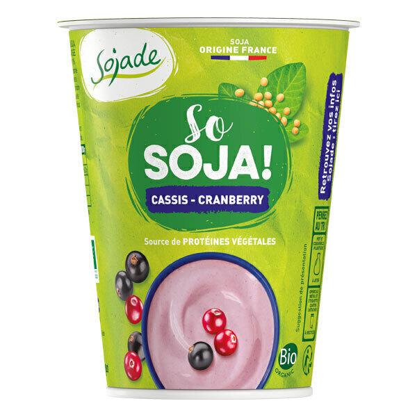 Sojade (Frais) - Sojade cassis cranberry 400g