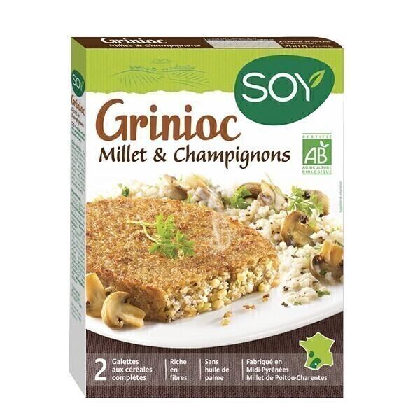 Soy (frais) - Galettes Grinioc millet champignons 2x100g