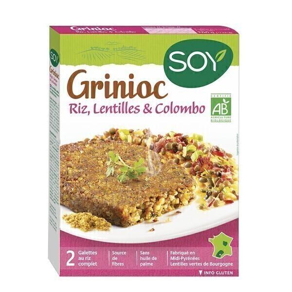 Soy (frais) - Galettes Grinioc riz lentilles et colom 2x100g