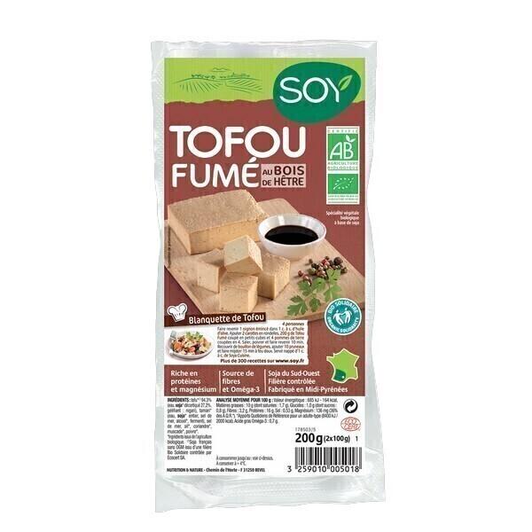 Soy (frais) - Tofu fumé au bois de hêtre - 2x100g