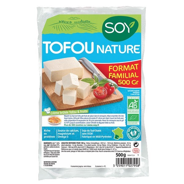 Soy (frais) - Tofu nature 500g