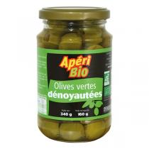 Apéri Bio - Olives vertes dénoyautées 340gr