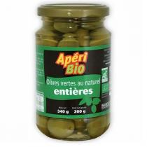 Apéri Bio - Olives vertes natures entières 340g