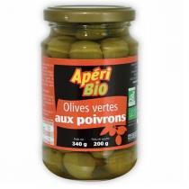 Apéri Bio - Olives vertes aux poivrons 340gr