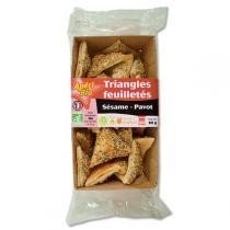 Apéri Bio - Triangles feuilletés sésame Pavot 60gr