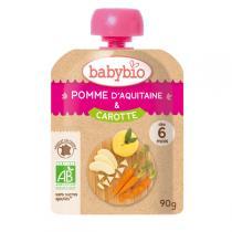 Babybio - Gourde Pomme Carotte 90g