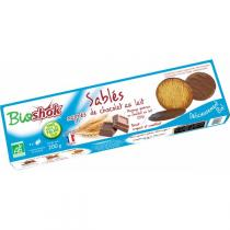 Bioshok - Biscuits sablés nappés chocolat Lait 200gr