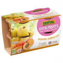 Danival - Purée Pommes abricots BIO 4 x 100g