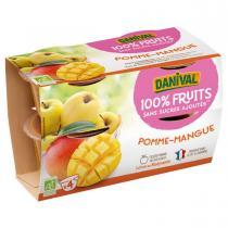 Danival - Purée Pommes mangues BIO 4 x 100g