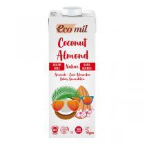 EcoMil - Boisson Coco amandes nature sans sucre Bio 1L