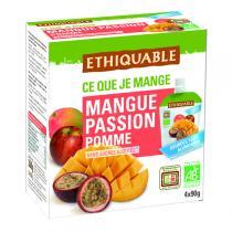 Ethiquable - Gourdes Mangue Passion 4x90g