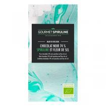 Gourmet Spiruline - Tablette de chocolat noir 74% fleur de sel et spiruline 70g