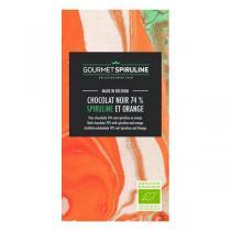 Gourmet Spiruline - Tablette de chocolat noir 74% orange et spiruline 70g