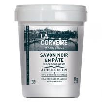 La Corvette - Savon noir en pâte à l'huile de lin Ecocert 1kg
