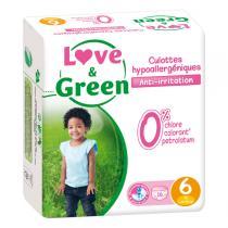 Love & Green - 16 Culottes apprentissage hypoallergéniques T6 +16Kg