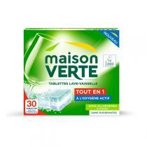 Maison Verte - Tablettes Lave-vaisselle tout en 1 - 30 tablettes