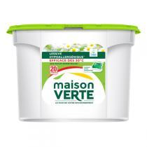 Maison Verte - Lessive en doses Fraîcheur été - 20 capsules