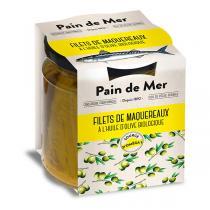 Pain de Mer - Filets de maquereau à l'huile d'olive 250g