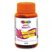 Pediakid - Gommes Immunité Pilulier de 60 oursons goût Framboise