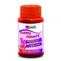 Pediakid - Gommes Immunité - Pilulier 60 Oursons Goût Framboise