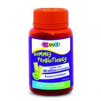 Pediakid - Gommes Probiotiques - Pilulier 60 Oursons Goût Pomme