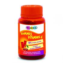 Pediakid - Gommes Vitamine C - Pilulier 60 Oursons Goût Cerise