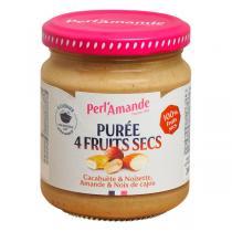 Perlamande - Purée 4 Fruits Secs 200gr