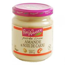 Perlamande - Purée Amande & Noix de cajou crue 200gr