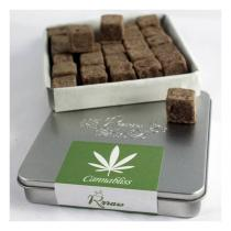 Rrraw - Truffes Cannabliss chanvre et cacao - Boîte métal 100 g