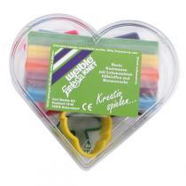 Weible Knet - Pâte à modeler coeur - 6 couleurs + formes