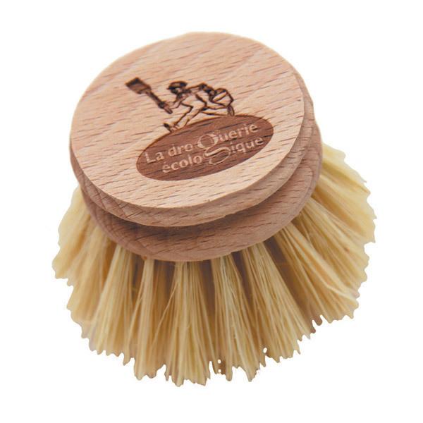 La Droguerie écologique - Tete brosse vaisselle Hetre et fibre d'agave
