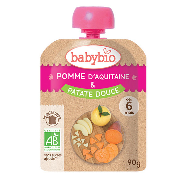 Babybio - Gourde Pomme Patate douce 90g