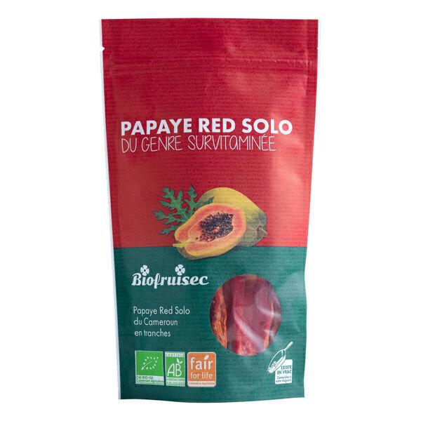 Biofruisec - Papaye Red Solo du Cameroun séchée en tranches 100g