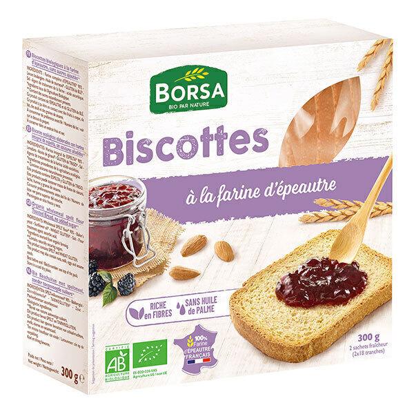 Borsa - Biscottes à la farine d'épeautre 300g