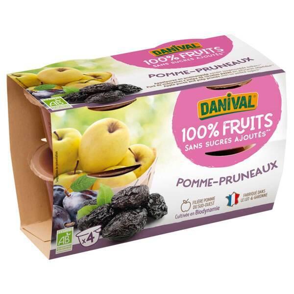 Danival - Purée Pommes pruneaux BIO 4 x 100g