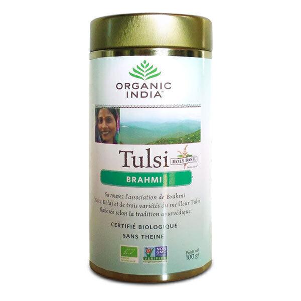 Ecoidées - Tulsi et Brahmi - boite 100g