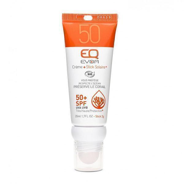 EQ - Combi Crème et Stick solaire SPF50 et SPF50+