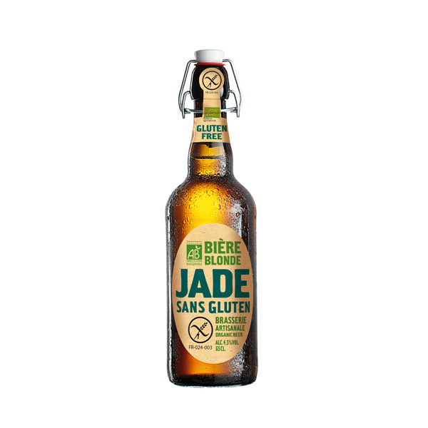 Jade - Bière blonde bio Jade Sans gluten 65cl