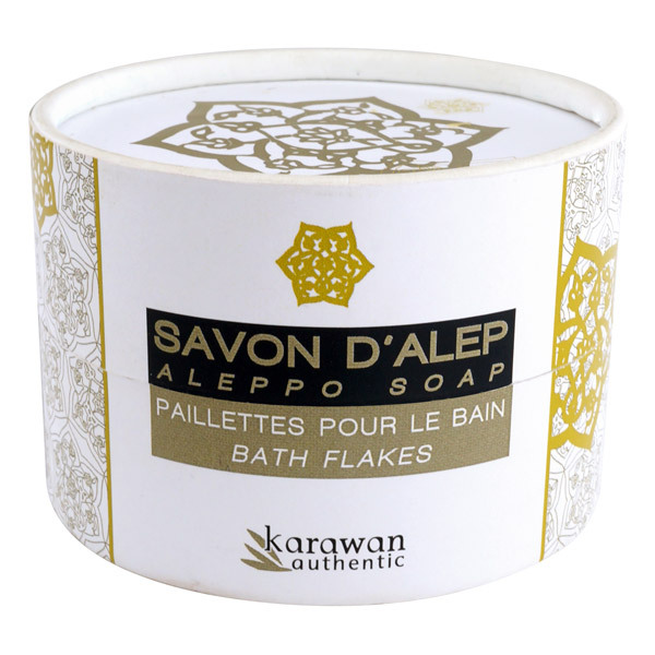 paillettes de savon d 39 alep pour le bain 100g karawan. Black Bedroom Furniture Sets. Home Design Ideas