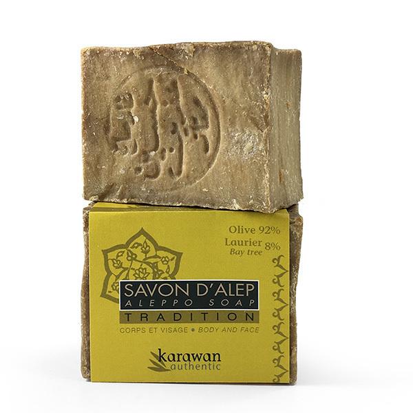 Karawan - Savon d'Alep Tradition 8% huile de Laurier 200g